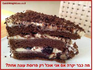 כמה קלוריות בפרוסת עוגה